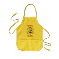 APRON KIDS CRAFT APRON WITH PUMPKIN AND NAME
