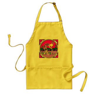 Apron:  Kokopelli, Flute Player of the Desert Adult Apron