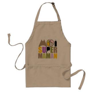 Apron Me Super Mom - Natural Logo