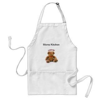 "Apron ""Mom Kitchen-I Love You Bear"""