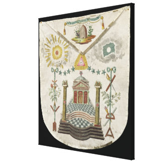 Apron of a Master of Saint-Julien Lodge in Canvas Print
