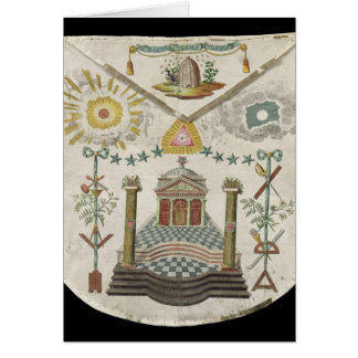 Apron of a Master of Saint-Julien Lodge in Greeting Cards