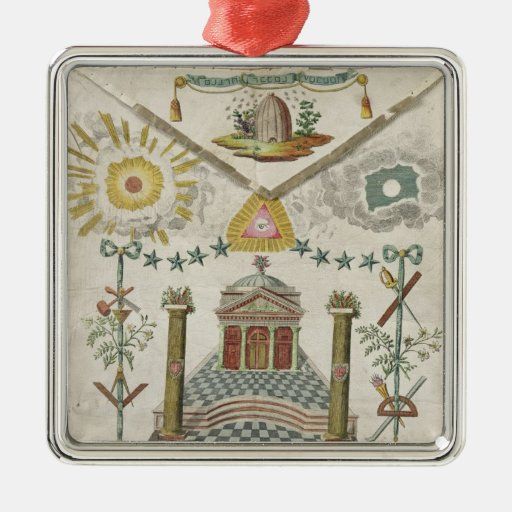 Apron of a Master of Saint-Julien Lodge in Christmas Tree Ornament