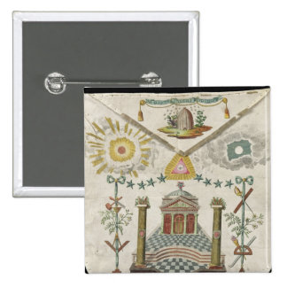 Apron of a Master of Saint-Julien Lodge in Pinback Button
