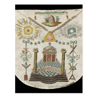 Apron of a Master of Saint-Julien Lodge in Postcard