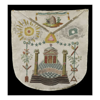 Apron of a Master of Saint-Julien Lodge in Poster