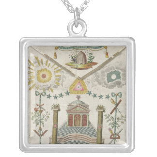 Apron of a Master of Saint-Julien Lodge in Square Pendant Necklace