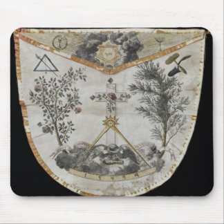 Apron of a Master of the Order of the Rose-Croix Mouse Pad