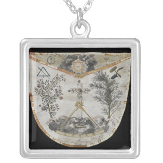 Apron of a Master of the Order of the Rose-Croix Square Pendant Necklace