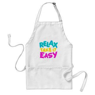 apron : RELAX TAKE IT EASY