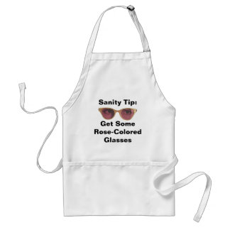 Apron Retro Style Rose-Colored Glasses Any Saying