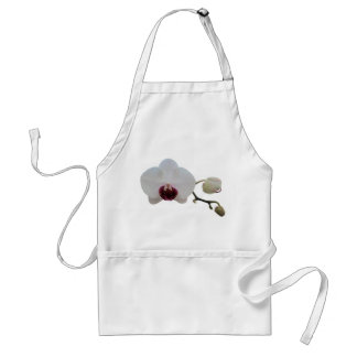 Apron - Ruby-Lipped White Orchid