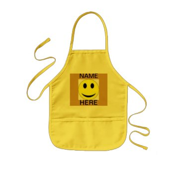 Apron Smiley Face Kids Craft Apron For School by creativeconceptss at Zazzle