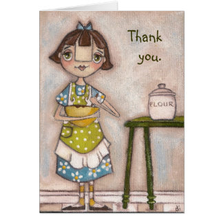 Apron Strings -  Greeting Card