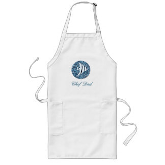 Apron_Template_Tropical Fish_Chef -ANY NAME-LONG Long Apron