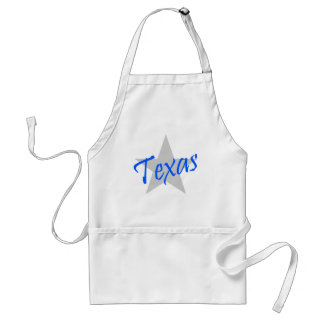 Apron Texas The Lone star State Blue Lite grey