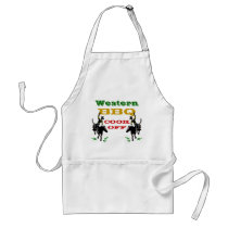 Apron Western BBQ Cook Off Promotion Gift Cowboys