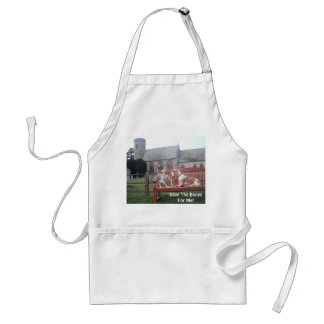 Apron with Basset Hound at Cemetary