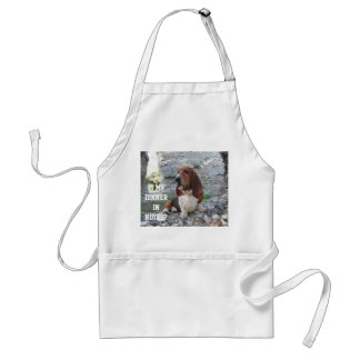 Apron With Basset Hound Visiting Castle Ruins