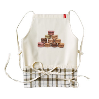 Apron with colored macarons