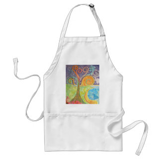 Apron with Colourful Swirly Tree Design