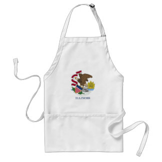 Apron with Flag of Illinois State, U.S.A.