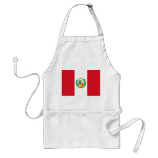 Apron with Flag of Peru
