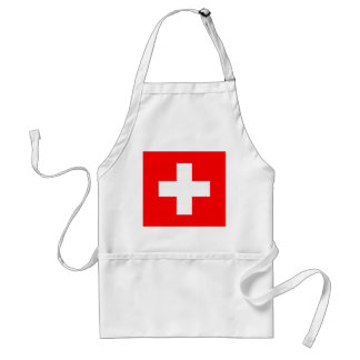 Apron with Flag of Switzerland