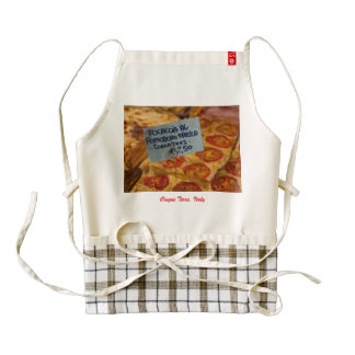 Apron with Focaccia Pizza Photo