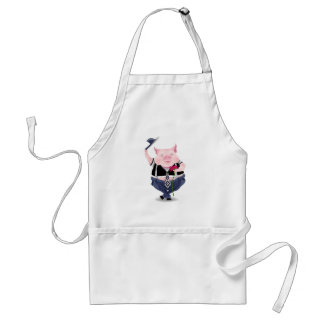 Apron with funny pig picture