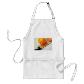 APRON WITH ORANGES AND KNIFE
