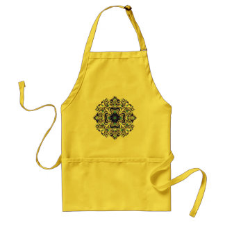 apron with oriental ornaments