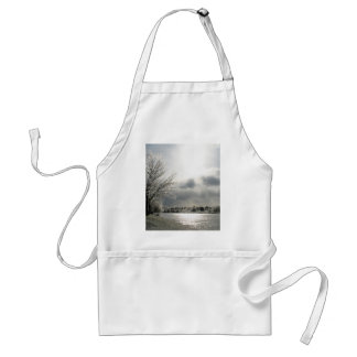 apron with photo of beautiful winter scene