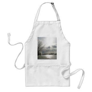 apron with photo of beautiful winter scene