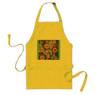 Apron Yellow with Orange Gerber Daisies