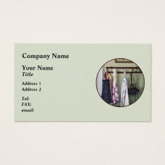 Aprons and Feather Duster Business Card