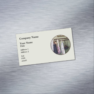 Aprons and Feather Duster Business Card Magnet