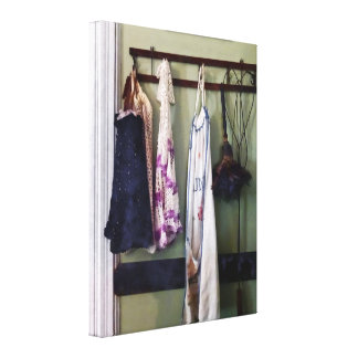 Aprons and Feather Duster Canvas Print