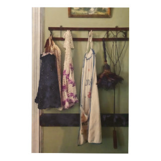 Aprons and Feather Duster Wood Wall Decor