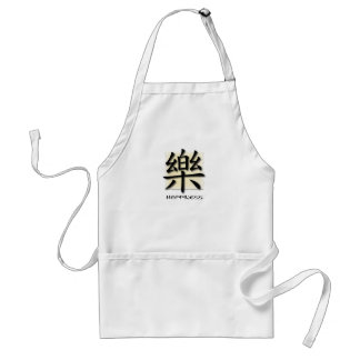 Aprons Chinese Symbol For Happiness On Parchment