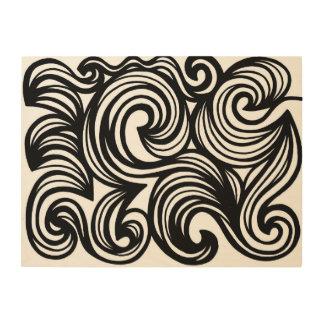 Apropiados populares ligeros ponen en orden impresiones en madera