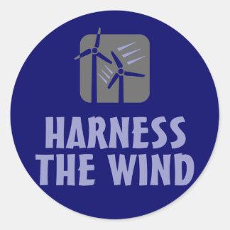 Aproveche el viento (3) pegatina redonda