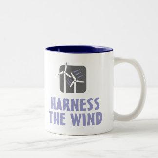 Aproveche el viento (3) taza de café de dos colores