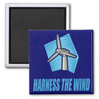 Aproveche el viento imán cuadrado