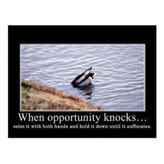 Aproveche la oportunidad con ambas manos y mátele  postal