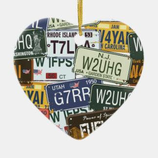 Aprovisionado de combustible - diseño americana de adorno de cerámica en forma de corazón