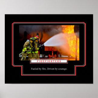 Aprovisionado de combustible por el fuego, póster