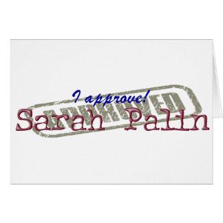 Apruebo la tarjeta de nota de Sarah Palin