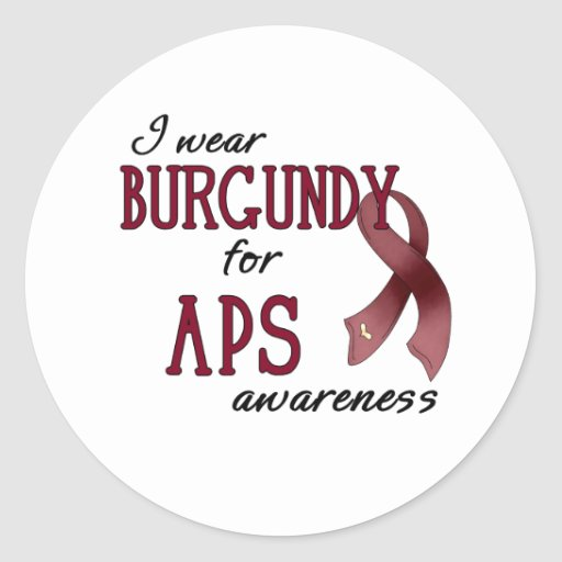 APS Awareness Items Classic Round Sticker