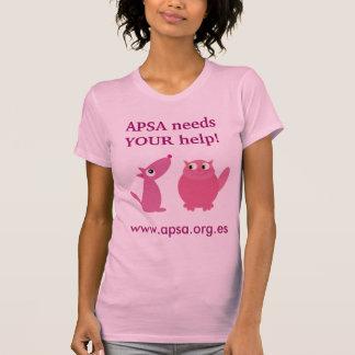 APSA Animal Charity Cute Pets Customizable Pink Tshirts
